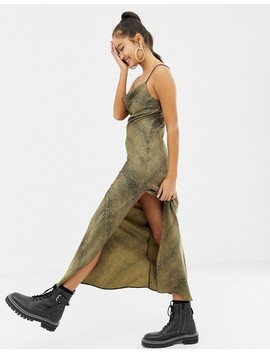 Collusion Snake Print Maxi Slip Dress by Collusion
