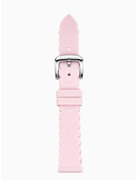 Scallop Pink Silicone Smartwatch Strap by Kate Spade