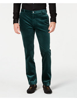 I.N.C. Mens Velvet Slim Fit Pants, Created For Macy's by Inc International Concepts