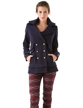Double Collar Pea Coat by Smythe
