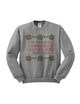 I'm Sorry I Crammed 11 Cookies Into The Vcr Sweatshirt Unisex by Tees And Tank You