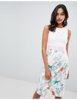 Closet London Floral Skirt Pencil Dress by Closet