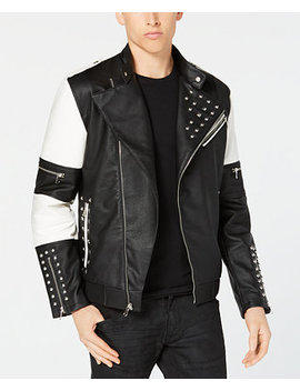 I.N.C. Men's Colorblocked Studded Bomber Jacket, Created For Macy's by Inc International Concepts