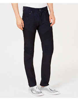I.N.C. Men's Slim Straight Fit Stretch Corduroy Moto Jeans, Created For Macy's by Inc International Concepts