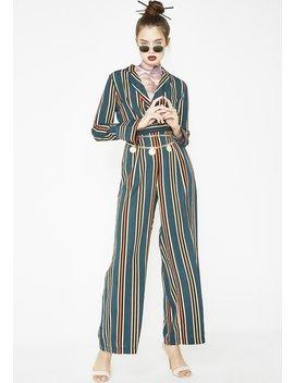 Born Ready Stripe Jumpsuit by Jealous Tomato