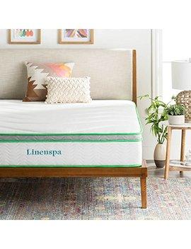 Linenspa 10 Inch Latex Hybrid Mattress   Supportive   Responsive Feel   Medium Firm   Temperature Neutral   Queen by Linenspa