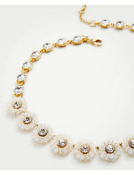 Beaded Flower Necklace by Ann Taylor