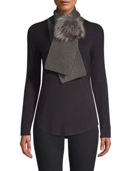 Cashmere & Fox Fur Scarf by Portolano