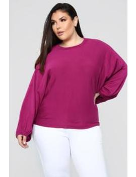 Making It Happen Sweater   Magenta by Fashion Nova