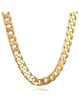 Syshion 18 K Gold Plated Men Chain Necklace Figaro Punk Style Jewelry,12mm by Syshion