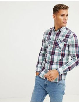 superdry-washbasket-check-shirt-in-off-white by superdry