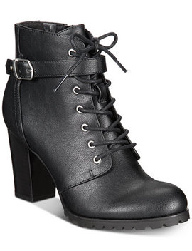 Cayte Lace Up Ankle Booties, Created For Macy's by Style & Co