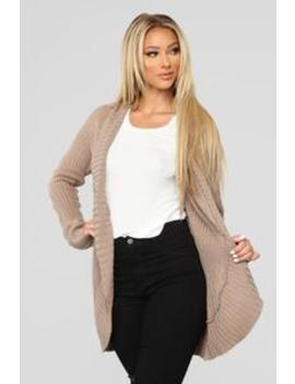 Kris Shawl Collar Cardigan   Khaki by Fashion Nova