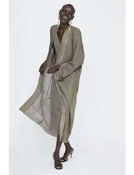 Cardigan With Metallic Thread  Knitwearwoman by Zara