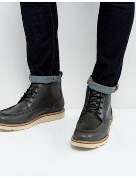 Черные кожаные ботинки на шнуровке Dead Vintage by Asos