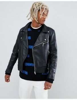 Weekday Leather Biker Jacket by Weekday
