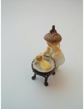 Acorn Cap Cradle With 1/2 Inch Teeny Tiny Baby   Made To Order In Custom Colors by Etsy
