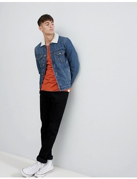 Only & Sons Denim Jacket With Full Fleece Lining by Only & Sons
