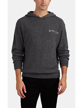 Embroidered Cashmere Hoodie by Rt A