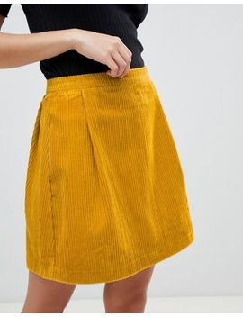Asos Design Tailored Cord Mini Skirt In Mustard by Asos Design
