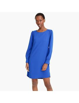 Long Sleeve Shift Dress In Everyday Crepe by J.Crew
