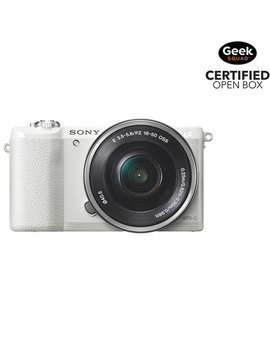Sony A5100 Mirrorless Camera With E Pz 16 50mm Oss Lens Kit   White   Open Box by Sony