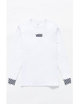 Vans Lil Vee Check Cuff Long Sleeve T Shirt by Pacsun