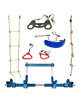 Bonobo Gym Deluxe Indoor Playground With Indoor Swing, Plastic Rings, Trapeze Bar, Climbing Ladder, And Swinging Rope … by Bonobo Gym By Gym1