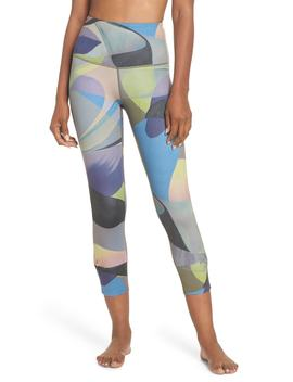 Katya High Waist Abstract Print Recycled Crop Leggings by Zella