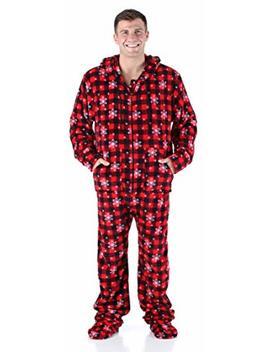 Sleepytime Pjs Men's Sleepwear Fleece Hooded Footed Onesie Pajamas by Sleepytime Pjs