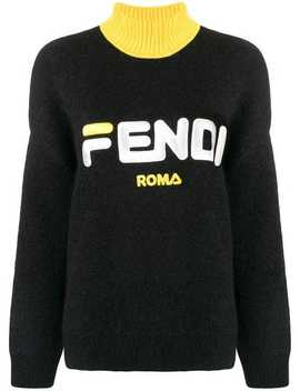 Fendi Mania Logo Knitted Sweater by Fendi