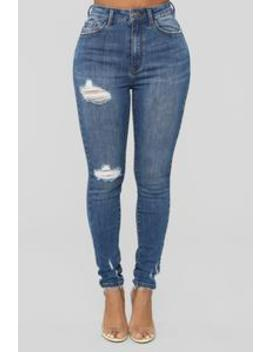 Dream Girl High Rise Skinny Jeans   Medium Blue Wash by Fashion Nova