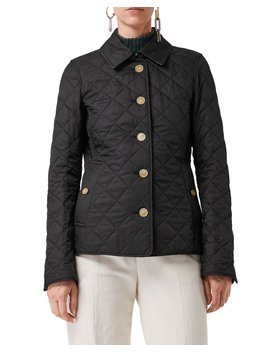 Frankby Diamond Quilted Button Front Jacket by Burberry