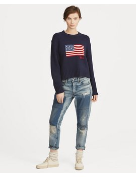 Flag Wool Cashmere Sweater by Ralph Lauren