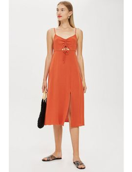 Tall Ruched Front Midi Slip Dress by Topshop