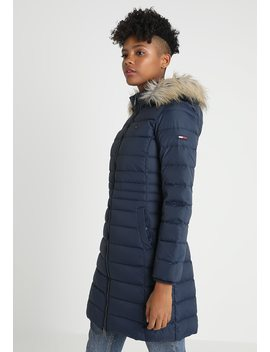 Essential Hooded Coat   Dunfrakker by Tommy Jeans