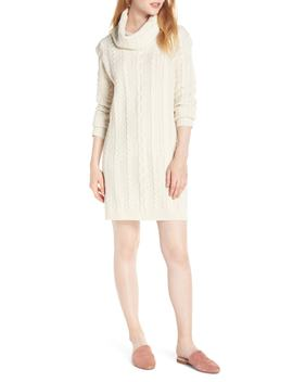Cowl Neck Cable Sweater Dress by Bb Dakota