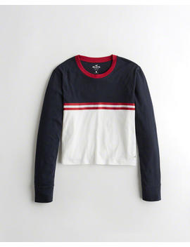 Colorblock Crewneck T Shirt by Hollister