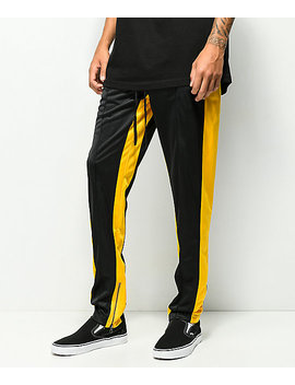 Ninth Hall Nordberg Black & Yellow Track Pants by Ninth Hall