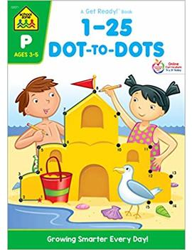 1 25 Dot To Dots (A Get Ready Book, Ages 3 5) by School Zone Staff