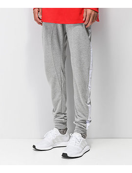 Zine Impulse Grey & White Knit Joggers by Zine