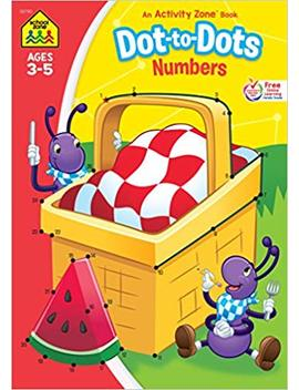 Dot To Dots Numbers Workbook From School Zone, Ages 3 5, Help Preschoolers Get Ready For School, Math, Counting, Sequencing by Amazon