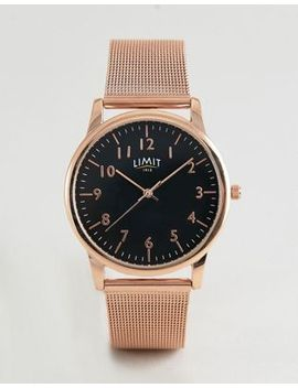 Limit   Exclusivité Asos   Montre En Maille   38 Mm   Or Rose by Limit