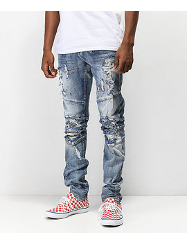 Crysp Montana Light Blue Mid Washed Jeans by Crysp Denim