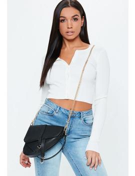 Black Saddle Shoulder Bag by Missguided