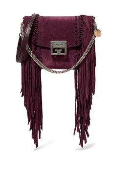Gv3 Small Fringed Suede Shoulder Bag by Givenchy