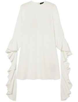 Kilkenny Ruffled Crepe Mini Dress by Ellery