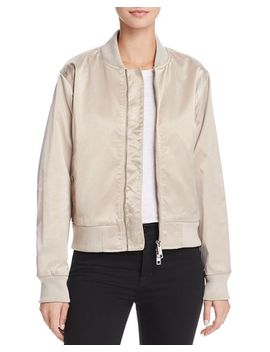 Sateen Bomber Jacket by Hudson