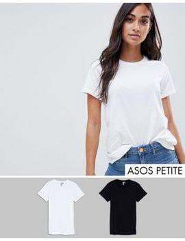 Набор из 2 футболок с круглым вырезом Asos Design Petite   СКИДКА by Asos