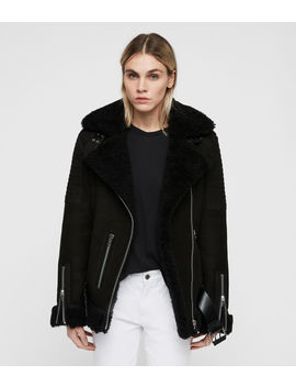 Garrix Shearling Jacket by Allsaints